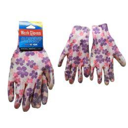 144 Bulk Working Gloves 1pr W/printed