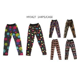 72 Bulk Girls Assorted Printed Leggings