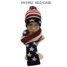 36 Bulk Unisex Winter Scarves And Hat Set