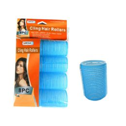 144 Bulk Hair Roller Cling 8pc/set 40mm Asst