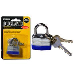 144 Bulk Lock 30mm Laminated2pc Steel Key
