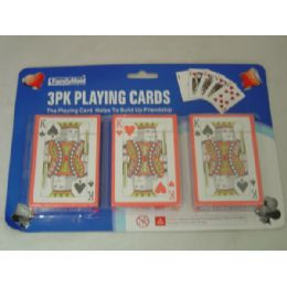 96 Bulk 3 Pack Playing Card W/blister Card