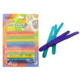 72 Bulk Craft Stick 72pc Multi Color