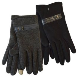 24 Bulk Winter Ladies Sensitive Touch Gloves With Buckle
