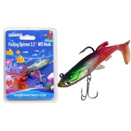 "144 Bulk Fishing W/3 Hook 3.2"" 3asst Color"