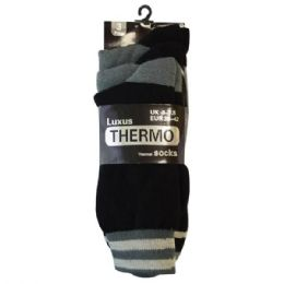 48 Bulk Mens Thermo Socks 3pk