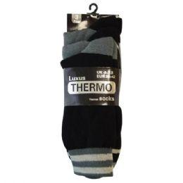 48 Bulk Mens Thermo Socks 3pk