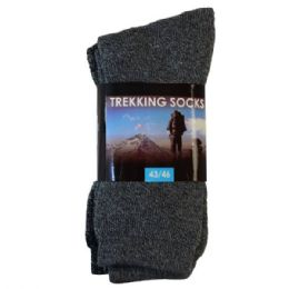 72 Bulk Mens Thermo Socks 2pk