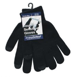 36 Bulk Winter Black Texting Glove