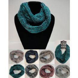 24 Bulk Wide Knitted Infinity Scarf