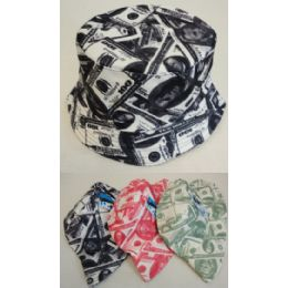 ec90327f410b Wholesale Money Printed Bucket Hats in Assorted Colors - at ...