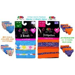 72 Bulk Fruit Of The Loom 3 Pack Mix Styles Girls Panties