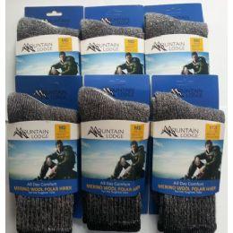 24 Bulk Merino Wool Polar Hiker Socks Men's And Women's Size Large