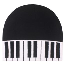 36 Bulk Piano Winter Beanie Hat