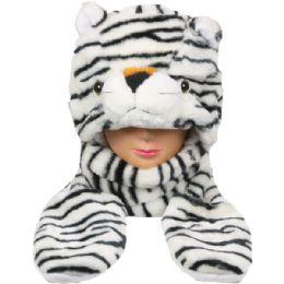 24 Bulk Winter Animal Hat Tiger