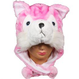 36 Bulk Winter Animal Hat Pink