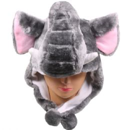 36 Bulk Winter Animal Hat Elephant