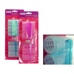 96 Bulk 6 Piece Cling Hair Rollers