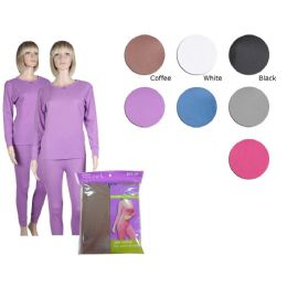 36 Bulk Ladies Thermal Set In Purple