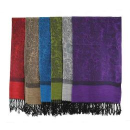 60 Bulk Pashmina Scarves In Assorted Colors