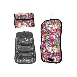 120 Bulk Hanging Cosmetic Bag In Assoerted Prints - Folds Up To Store!