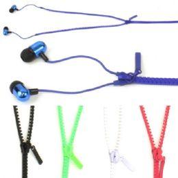 50 Bulk Zipper Ear Buds In Assorted Colors.