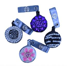 240 Bulk Plastic Retractable Id Holders In Assorted Styles / Colors