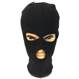 60 Bulk Unisex Black Ski Hat/mask One Size Fits All