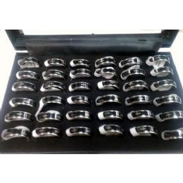 144 Bulk Cross Style Spin Stain Steel Fashion Ring