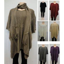 12 Bulk Knitted Shawl & Scarf Set