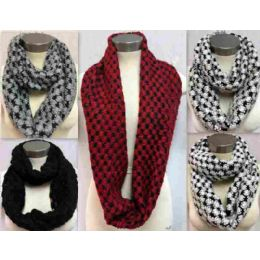 24 Bulk Bicolor Knitted Infinity Scarves Style 157