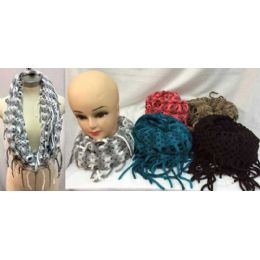 24 Bulk MultI-Color Knitted Infinity Scarves