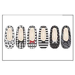 72 Bulk Ladies Slipper Socks Wtih FuR-Blk/wht Pack Sizes S-M, M-L