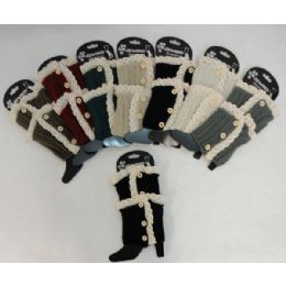 12 Bulk Antique LacE-3 Buttons Knitted Boot Cuff