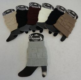 12 Bulk Knitted Boot Cuffs [square Knit]