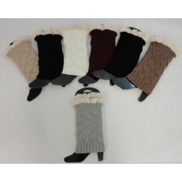 12 Bulk Knitted Boot Cuffs [antique Lace]