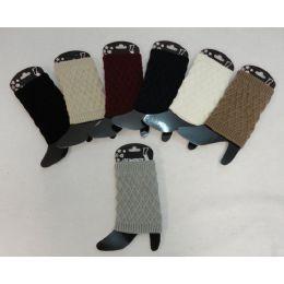 12 Bulk Knitted Boot Cuffs [diamond Knit]