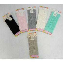 12 Bulk Pastel Boot Cuffs Antique Lace-2 Buttons