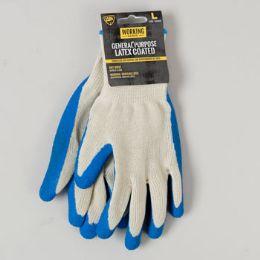 144 Bulk Gloves General Purpose Latex Coated Large Working