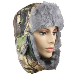 36 Bulk Winter Army Pilot Hat With Faux Fur Lining And Strap