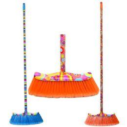 24 Bulk Broom With Design Handles
