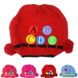 72 Bulk Kid Winter Hat With Abc Assorted