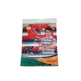 72 Bulk Men's Stripe Polo Shirt