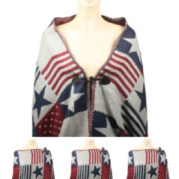 24 Bulk Womens Fashionable Winter Scarf With Button Closure