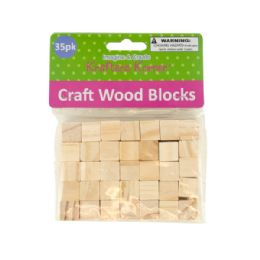 72 Bulk Natural Wooden Craft Blocks