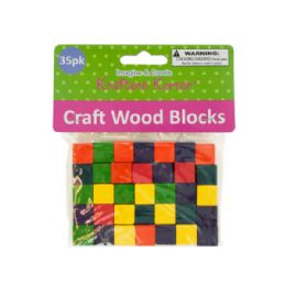 72 Bulk Colored Wooden Craft Blocks