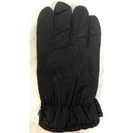 24 Bulk Winter Black Ski Glove With Inside Lining And AntI-Slip Grip