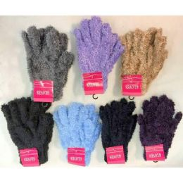 120 Bulk Adult Unisex Fuzzy Glove Assorted Colors