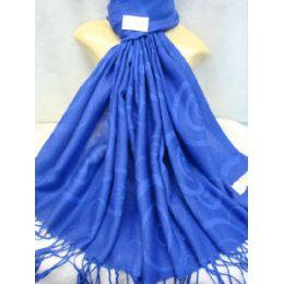 36 Bulk Winter Fashion Pashminas Multi Colored Swirls Blues