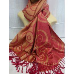 36 Bulk Winter Fashion Pashminas Multi Colored Swirls